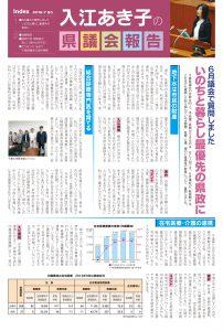 入江あき子の県議会報告 2016年7月発行