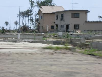 海岸沿いの家