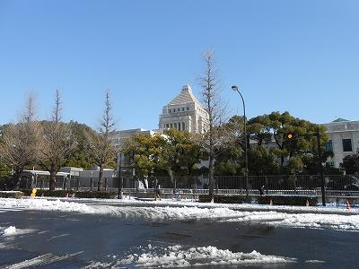 雪の国会議事堂