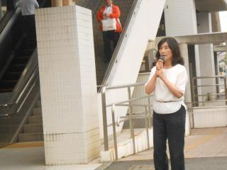 6月20日佐倉駅にて