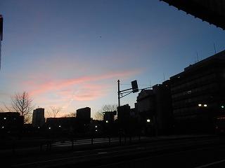 県庁近くの夕焼け