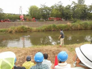 高崎川救助訓練