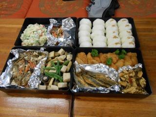 初日の昼食
