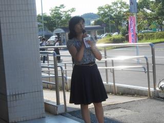 13日JR佐倉駅にて