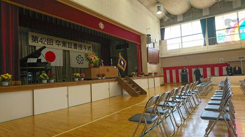 旅立ちの春・臼井中学校卒業