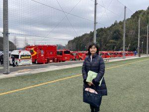 岩名球技場で佐倉市消防出初式