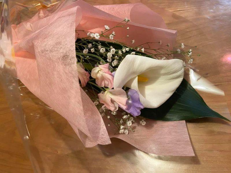 君津の特産品・カラーの花束