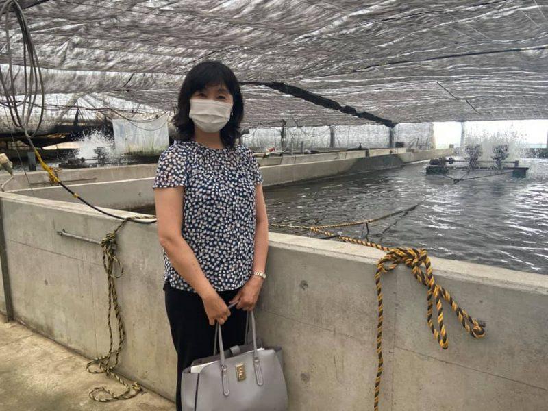 内水面研究所でのレクチャーと印旛沼漁協で行われているウナギ養殖の様子