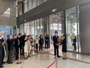 新知事初登庁/熊谷県政スタート