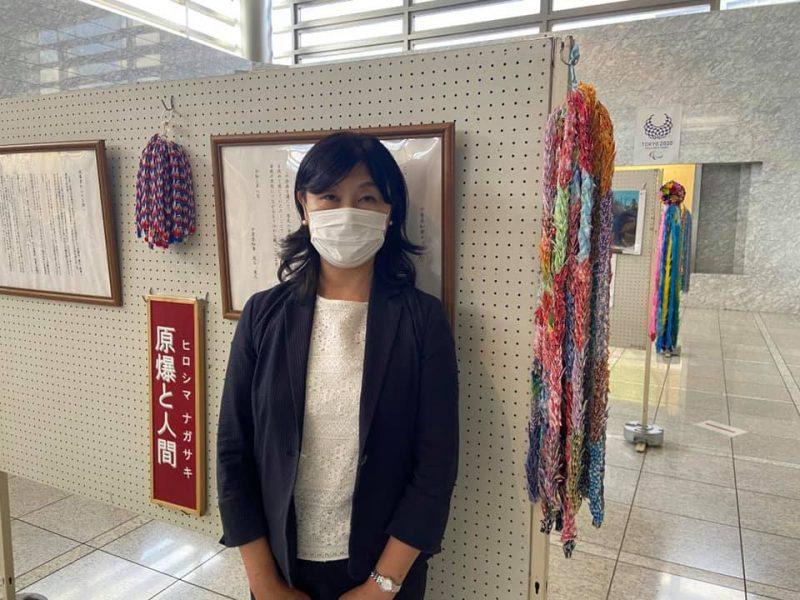 千葉県庁本庁舎ロビーで開催された原爆展